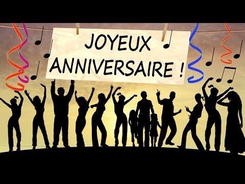 Top JOYEUX ANNIVERSAIRE - Carte d'anniversaire animée - YouTube GZ28
