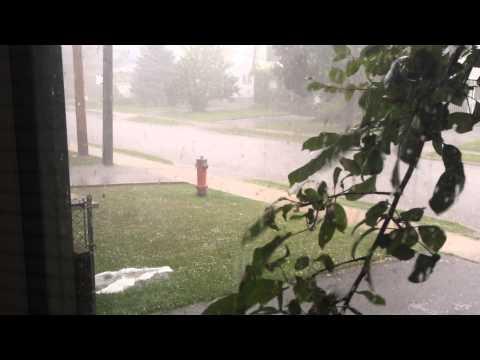 Hail storm North York, Toronto (July 2014)