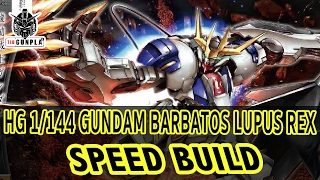 speed build hg 1 144 gundam barbatos lupus rex tid gunpla