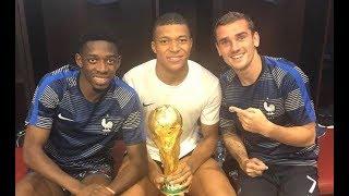 Lo mejor la selección francesa celebrando su victoria en Mundial de Rusia 2018