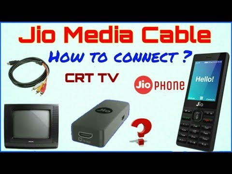 Jio Media Cable ? How to connect CRT and LED/LCD TV from JioPhone