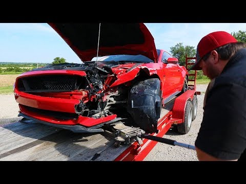 Rebuilding A Wrecked 2017 Mustang GT