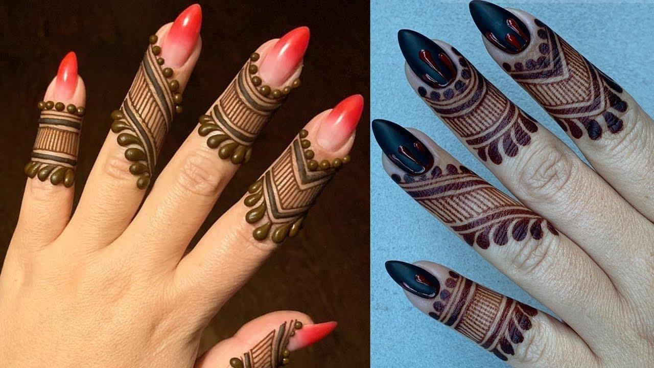 Latest Fingertip Mehndi Design 2019 Unique Finger Mehndi Design Simple Henna Design For Beginner