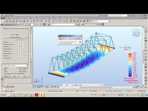 Robot Structural Analysis 2016  Single Span Road Bridge Part1: Modeling and Analysis