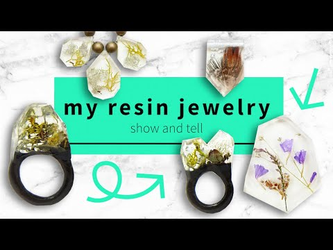 Resin Artist SHOW AND TELL - Unique handmade jewelry that will blow your mind!
