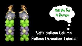 Sofia The First Balloon Column - Balloon Decoration Tutorial