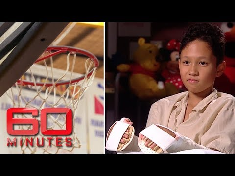 Freak basketball game severs boy\'s hands and foot | 60 Minutes Australia