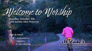 Sunday Worship – October 4th, 2020