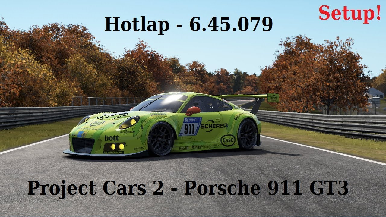 project cars 2 setup porsche 911 gt3 r nordschleife hotlap youtube. Black Bedroom Furniture Sets. Home Design Ideas