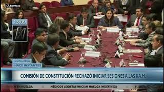 Se instala Comisión de Constitución y deciden entrar a trabajar a las 9 am y no a las 8 / Parte 2