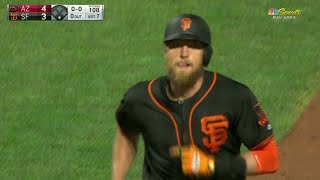 ARI@SF: Pence mashes a two-run homer to left