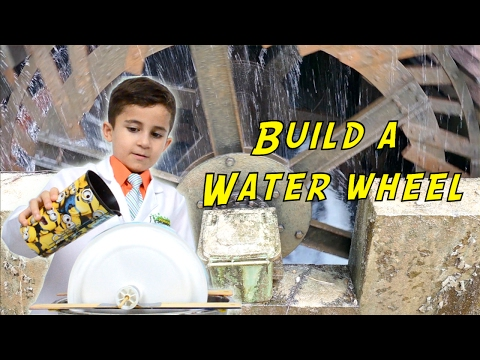 Build a Water Wheel to Turn Potential Energy to Kinetic Energy- Kid Science Ep 30