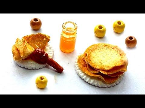 Miniature Pancakes | Dollhouse food - Polymer Clay Tutorial
