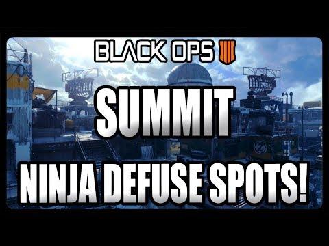 BEST SUMMIT NINJA DEFUSE SPOTS ON BLACK OPS 4! BO4 BEST HIDING SPOTS!