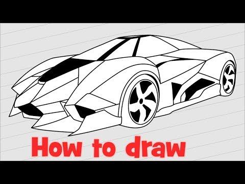 How to draw a supercar lamborghini egoista