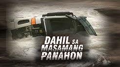 24 Oras: Dump truck, nahulog sa Wawa river spillway; Pahinante, natagpuang patay