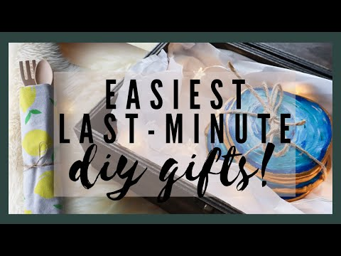 3 EASY LAST MINUTE DIY GIFTS! | The Diaries of DIY Danie