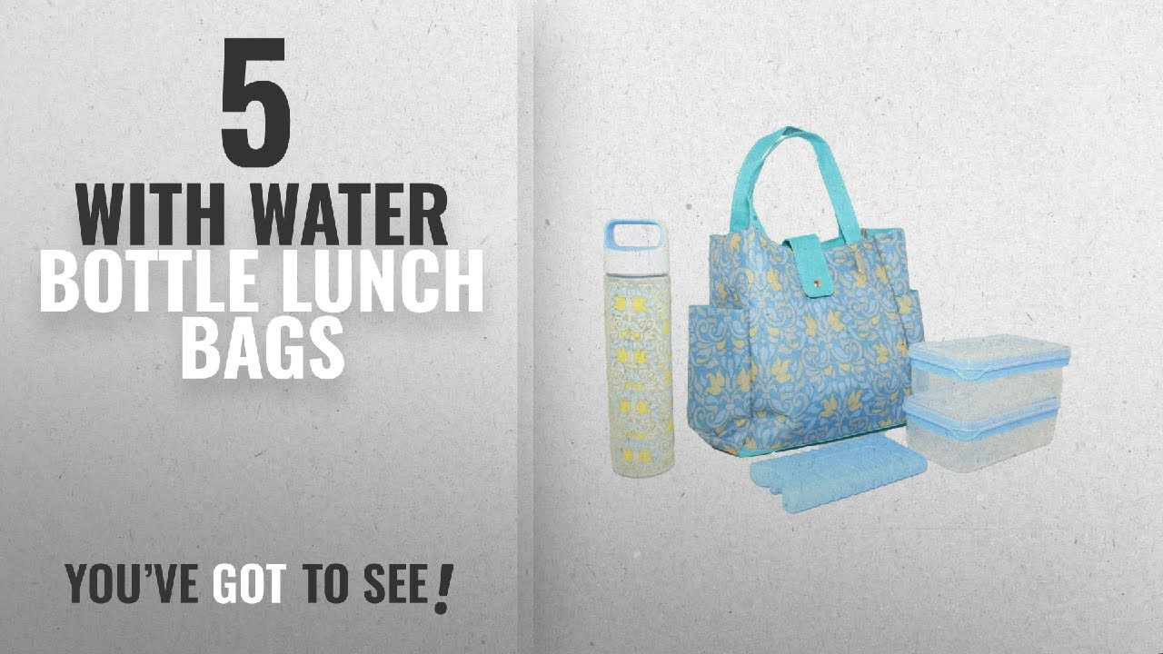 Best Lunch Bags With Water Bottle  2018   Silver One Durable   Reusable  Premium Insulated Heavy Duty 42102a446436e
