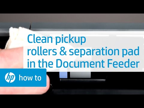 Cleaning The Pickup Rollers And Separation Pad In The Document Feeder Hp Printers Hp Youtube