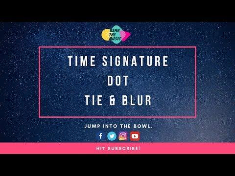 🎼 ASMR Music Theory 101: Time Signature, Dot, Tie, Blur 🎵