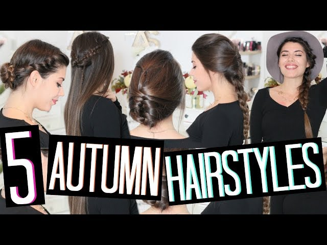 5 EASY HAIRSTYLES FOR SCHOOL & WORK | 5 ACCONCIATURE FACILI PER L'AUTUNNO! 🍁 | Adriana Spink