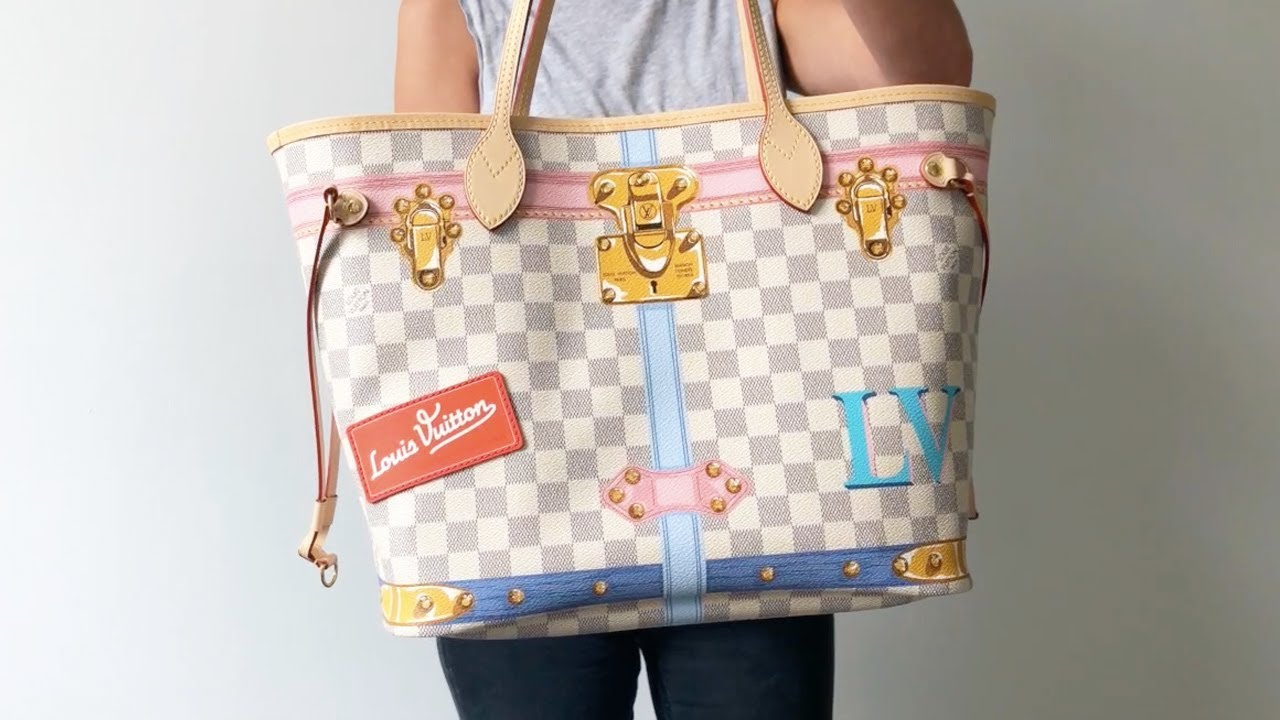 bc08ee156197 Louis Vuitton Neverfull MM Summer Trunks Limited Edition Azur Tote ...