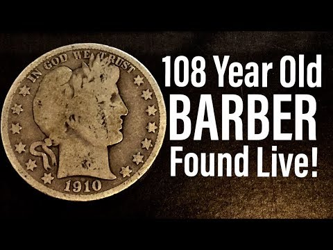 108 Year Old Silver Barber Half Dollar Found LIVE!!! Epic Coin Roll Hunt!