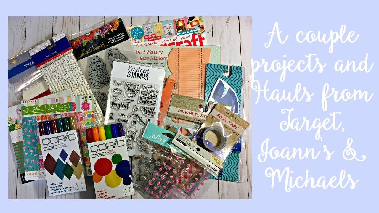 A Couple Projects and Hauls from Target, Joann's & Michaels