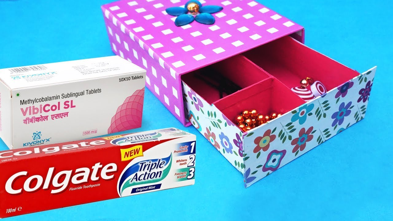 boxes crafts ideas easy best out of waste craft idea from toothpaste box 1166