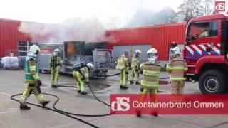 Opnieuw een containerbrand bij Larcom Ommen