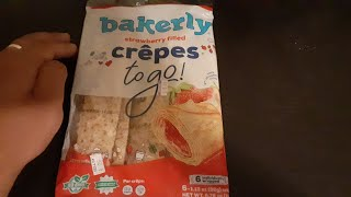 Bakerly strawberry filled crêpes to go REVIEW