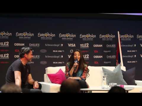Serbia: Zaa sings arabic (press conference)