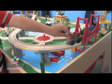 KidKraft Waterfall Mountain Train Table & Set 17850 - YouTube