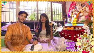 Kanchi Singh And Rohan Mehra Performing Their 3rd Ganesh Pooja Together   Exclusive Interview