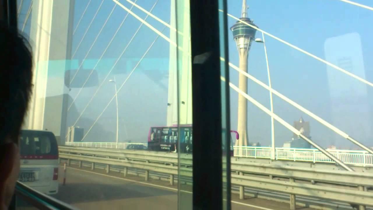 澳門巴士26號路線氹仔至澳門半島(行西環大橋過程) - YouTube