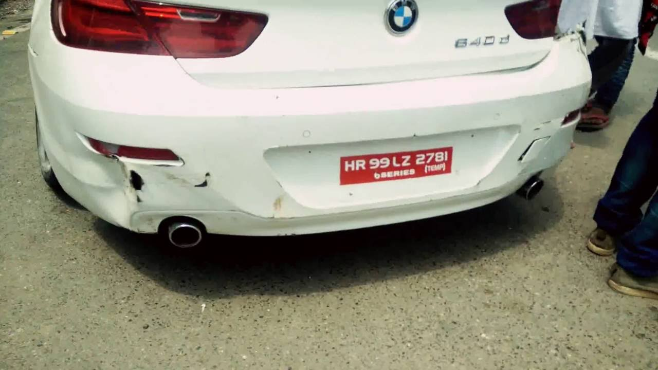Insane Car Crash Bmw 640d Crash In Delhi Super Car Crash Youtube