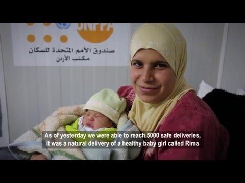 5,000 plus healthy babies and mothers in Jordan's Zaatari Camp