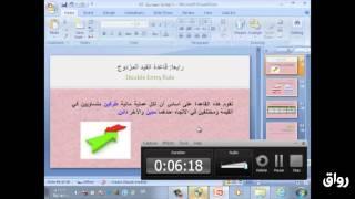 رواق : مبادئ المحاسبة - المحاضرة 2 - الجزء 4