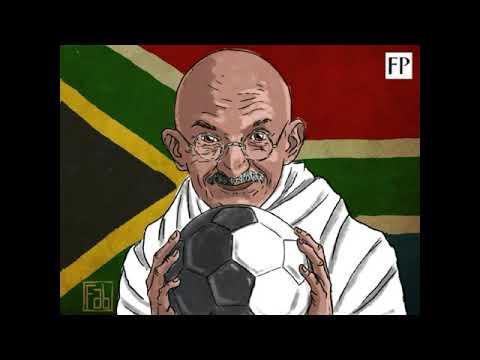 Footballer Mahatma Gandhi.