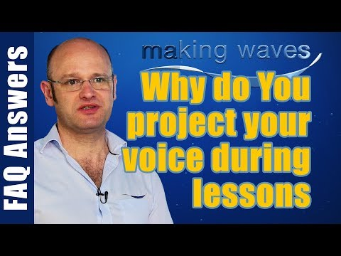 Making Waves Swimming Lessons East Kilbride Glasgow - Why does Tom project his voice in the pool