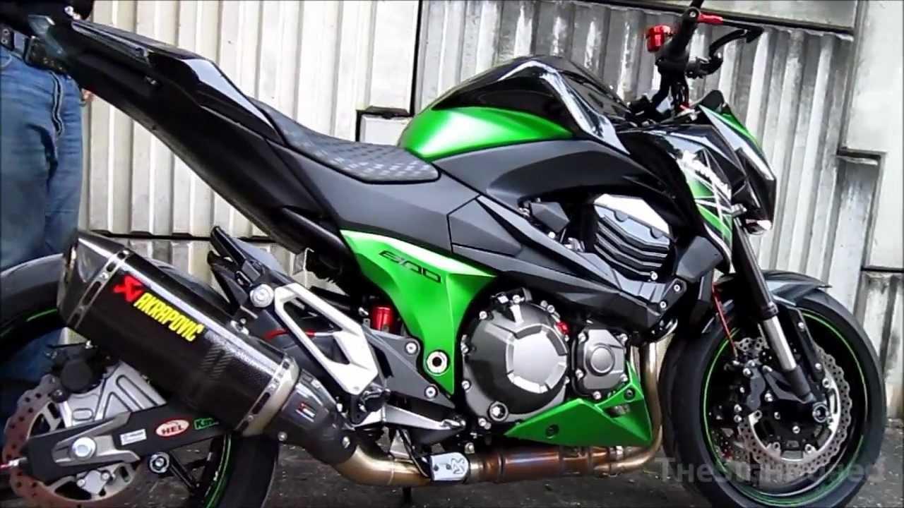 Kawasaki Z800 Akrapovic Carbon Exhaust