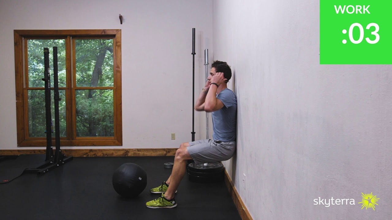 Tabata: Wall Balls and Wall Sits