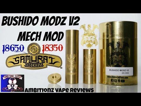 Samurai Modz Bushido Mod V2 Brass Mech Mod Limited Edition Review | 18650 & 18350
