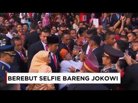 Momen Saat Artis & Emak-Emak Berebut Selfie Dengan Jokowi ; HUT RI Ke-73
