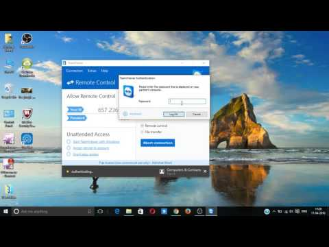 how to connect to a pc via teamviewer