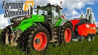 FARMING SIMULATOR 20 - Heu machen und BALLEN pressen | Landwirtschafts-Simulator 20 Gameplay