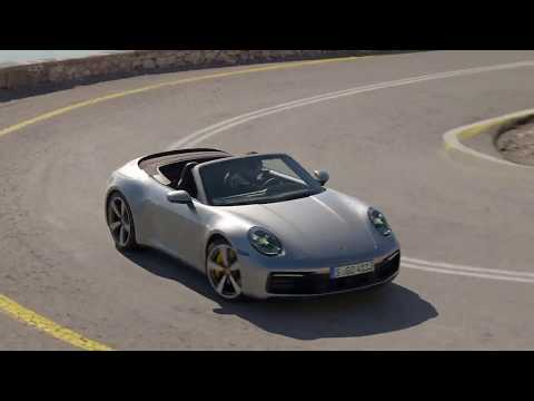 Porsche 911 Carrera S Cabriolet GT in Silver Metallic Driving Video