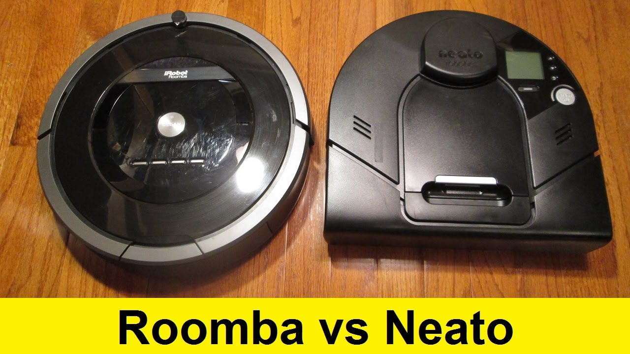 roomba vs neato youtube. Black Bedroom Furniture Sets. Home Design Ideas