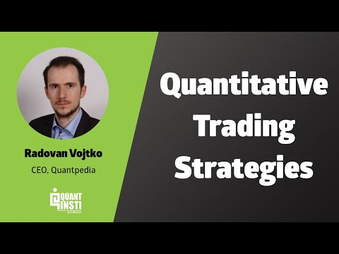 Classification of Quantitative Trading Strategies by Radovan