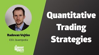 Classification of Quantitative Trading Strategies by Radovan Vojtko - 11th July 2017